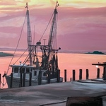 shrimp boat in thunderbolt By Patricia Leone