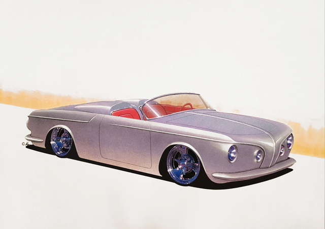 Michael Leonhard  'Vw Karmann Type 34 Speedster', created in 2000, Original Drawing Other.