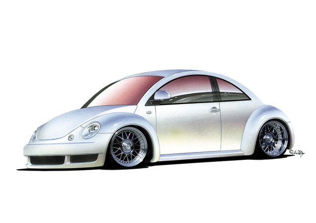 Michael Leonhard  'Vw New Beetle Tuner Style', created in 2001, Original Drawing Other.