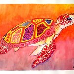 Beautiful Turtle By Leslie Abraham