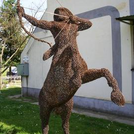 Leslie Komaromi: 'centaur warrior', 2007 Wire Sculpture, Representational.
