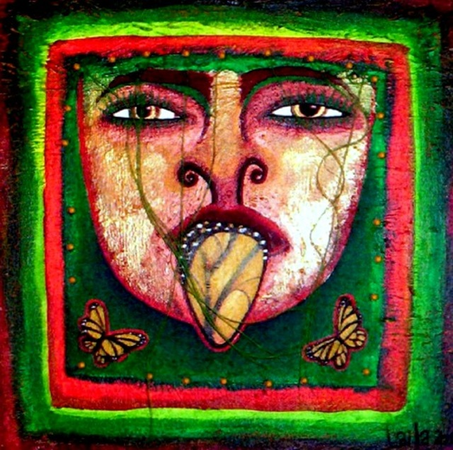 Laila  Lupita  'Impeccable Tongue', created in 2010, Original Painting Other.