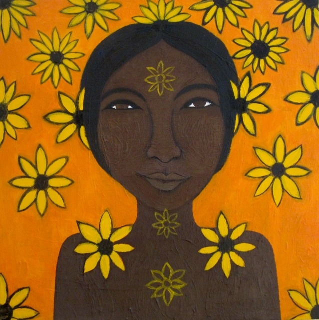 Laila  Lupita  'Oshun', created in 2013, Original Painting Other.