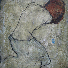 Levan Mindiashvili: 'Dancer', 2008 Tempera Painting, Figurative.