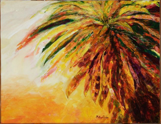 Patsy Mair  'Flair Of The Croton', created in 2005, Original Painting Acrylic.