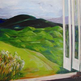 Patsy Mair Artwork View from the Bunker, 2005 Acrylic Painting, Landscape