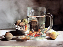 - artwork The_Morning_tea-1162523124.jpg - 2006, Watercolor, Still Life