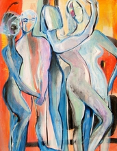 - artwork Dancing_Nudes-1316860296.jpg - 2011, Painting Acrylic, Figurative