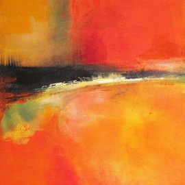 Leyla Murr Artwork Mexicana, 2010 Acrylic Painting, Abstract Landscape