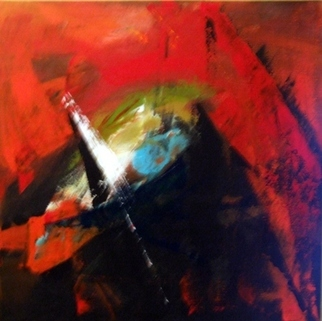 Leyla Murr Artwork Old Flame , 2008 Acrylic Painting, Abstract
