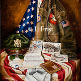 Lisa Frist: 'they gave their all', 2014 Oil Painting, Still Life. Artist Description: WWII B17 Bomber...