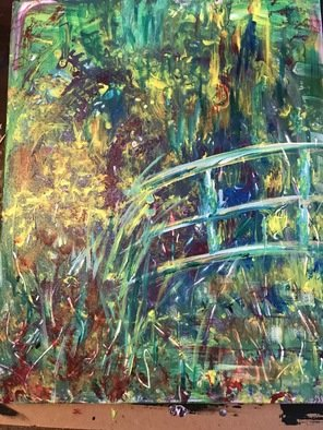 Pamela Gilbert: 'lillies of the water', 2018 Acrylic Painting, Abstract Landscape. Artist Description: Inspiration of la Bassin aux Nympheas...