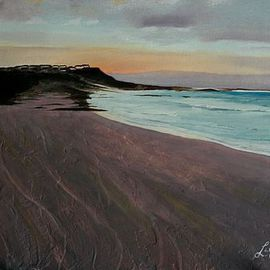 Liesel Du Plessis: 'Arniston Sunset', 2012 Oil Painting, Seascape. Artist Description:  Arniston Sunset   ...