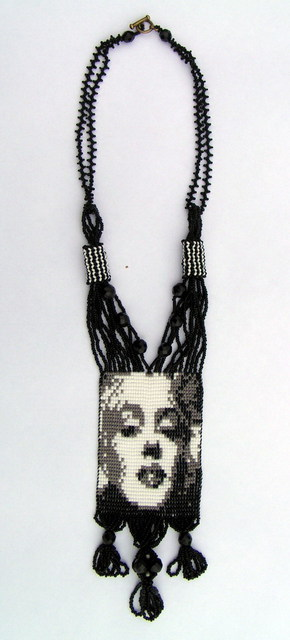 Artist Rac Lila. 'Merlin Monroe' Artwork Image, Created in 2009, Original Beads. #art #artist