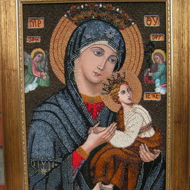 Our Lady of Perpetual Help Icon By Rac Lila