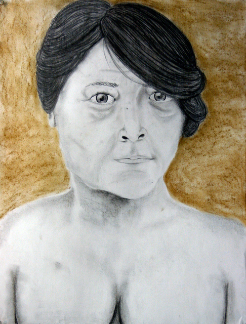 Liliana Zuniga  'Untitle', created in 2010, Original Drawing Charcoal.