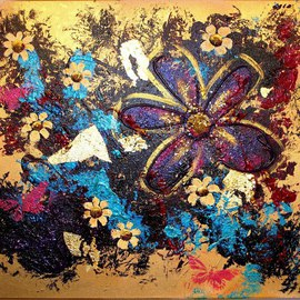 Lili Oest Artwork Love to live, 2014 Acrylic Painting, Floral