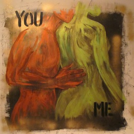 Lili Oest: 'You, me', 2011 Acrylic Painting, Body. Artist Description:  Acrylic paint on canvas - SOLD ...