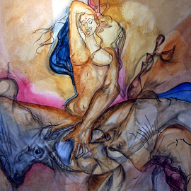 Javed Jalil: 'FIGHTING IN CONTRAST', 2009 Ink Painting, New Age. Artist Description:  FIGHTING IN BETWEEN THE POLARITIES OF THE OPPOSITE. SEEKING THE ABSOLUTE. ...