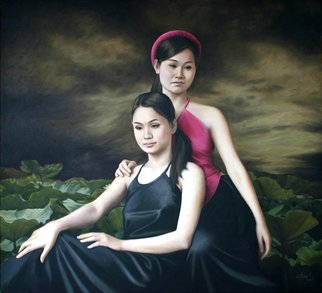 Chau Pham: 'folk song', 2006 Oil Painting, Portrait. Artist Description: Vietnam beauties...