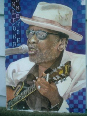 James Dailey Artwork john lee hooker, 2010 Watercolor, Americana