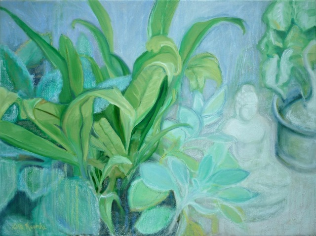 Lisa Reinke  'Meditation Garden', created in 2010, Original Pastel Oil.