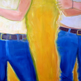 Lisa Reinke Artwork Stance, 2007 Oil Painting, Figurative
