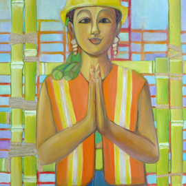Lisa Reinke: 'Under Construction', 2010 Oil Painting, Figurative.