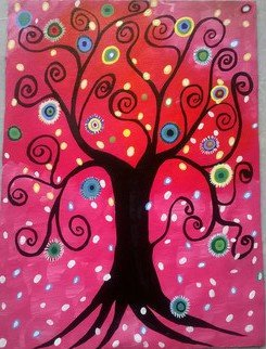 Reena Thomas Artwork Tree of life, 2016 Acrylic Painting, Children