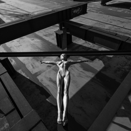 Aleksandr Lishchinskiy: 'inner shadows 1', 2017 Black and White Photograph, Nudes. Artist Description: Digital print on paper, high quality paper, actually printed with epson 11880 Epson and Ink Technology: UltraChrome K3  at least 100 years warranty of no fading  with 2,5cm white border. Comes with signed certificate of authenticity, and a label signed by artist with name of artist, piece ...