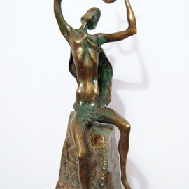 Liubka Kirilova: ' ORPHEUS', 2016 Bronze Sculpture, Figurative. Artist Description:  Bronze sculpture ORPHEUSUnique Contemporary Art...