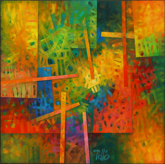 Artist: Robert Pelles - Title: Signs - Medium: Acrylic Painting - Year: 2014