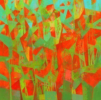 Robert Pelles: 'summer x', 2021 Acrylic Painting, Abstract. Based on my inner intuition, inspiration. ...