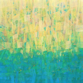 Robert Pelles: 'summertime diptych', 2020 Acrylic Painting, Abstract. Based on my inner intuition, inspiration. ...