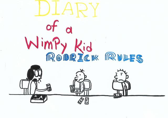 Liza Zahid  'Diary Of A Wimpy Kid', created in 2018, Original Book.