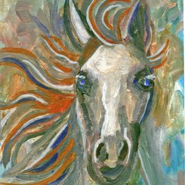 Linda Mears Artwork Horse Portait 101, 2012 Acrylic Painting, Equine