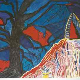 Lisa Zilker Artwork Heart of Darkness, 1999 Watercolor,