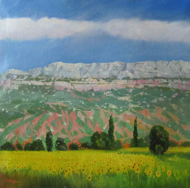 Serge Akopov  'Provencal Landscape', created in 2016, Original Painting Oil.