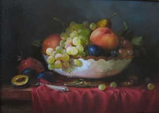 Serge Akopov Artwork still life with fruits, 2013 Oil Painting, Still Life
