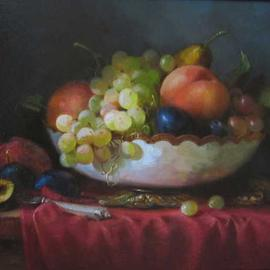 Serge Akopov: 'still life with fruits', 2013 Oil Painting, Still Life. Artist Description: painting, still life, oil painting, fruits...