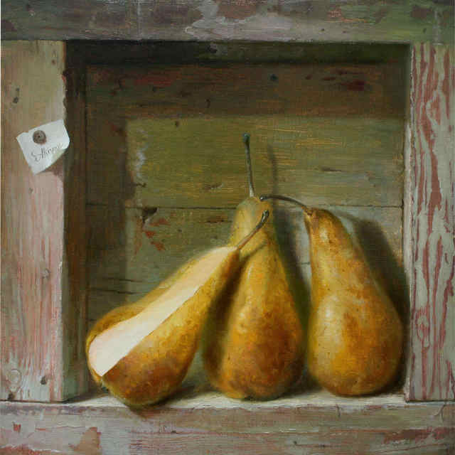 Serge Akopov  'Three Pears', created in 2014, Original Painting Oil.