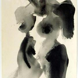 Andreas Loeschner Gornau Artwork Nude Study 3, 1994 Gouache Drawing, Nudes