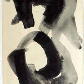 Andreas Loeschner Gornau Artwork Nude Study 4, 1990 Gouache Drawing, Nudes