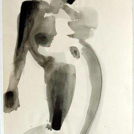 Andreas Loeschner Gornau Artwork Nude Study 5, 1990 Gouache Drawing, Nudes