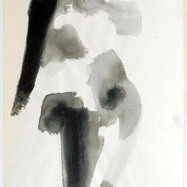Andreas Loeschner Gornau Artwork Nude Study 7, 1994 Gouache Drawing, Nudes