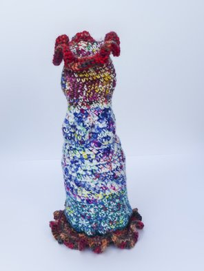 Andreas Loeschner Gornau: 'Small vase 4,  picture 3 of 4', 2014 Crafts, Kitchen. Artist Description:    Small vase 4,  picture 3 of 4 - Crochet over honey glass 12 x 12 x 25 cm by Andreas Loeschner- Gornau 2014.   ...