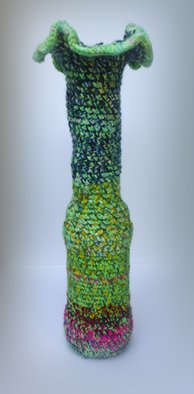 Andreas Loeschner Gornau Artwork Small vase 7, picture 1 of 5, 2014 Textile Art, Floral
