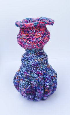Andreas Loeschner Gornau: 'Small vase 8 picture 3 of 4', 2014 Crafts, Home. Artist Description:    Small vase 8 picture 3 of 4Crochet over cucumber glass 12 x 10 x 20 cm by Andreas Loeschner- Gornau 2014.   ...