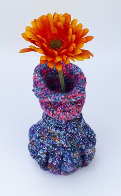 Andreas Loeschner Gornau: 'Small vase 8 picture 4 of 4', 2014 Crafts, Family. Artist Description:     Small vase 8 picture 4 of 4Crochet over cucumber glass 12 x 10 x 20 cm by Andreas Loeschner- Gornau 2014.    ...
