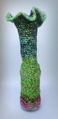 Andreas Loeschner Gornau: ' Small vase 7, picture 2 of 5', 2014 Crafts, Zeitgeist. Artist Description:   Small vase 7, picture 2 of 5 Crochet over glass 15 x 15 x 40 cm by Andreas Loeschner- Gornau 2014       ...